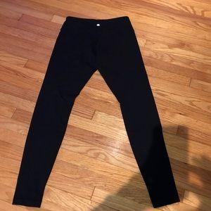Lululemon black full length leggings 8